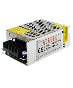 Vista perfil de transformador de LED 12V 3A