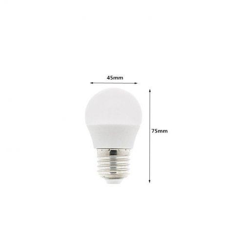 Medida de la Bombilla LED G45 E27 6W