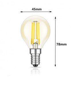 Medidas de Bombilla LED de filamento E14
