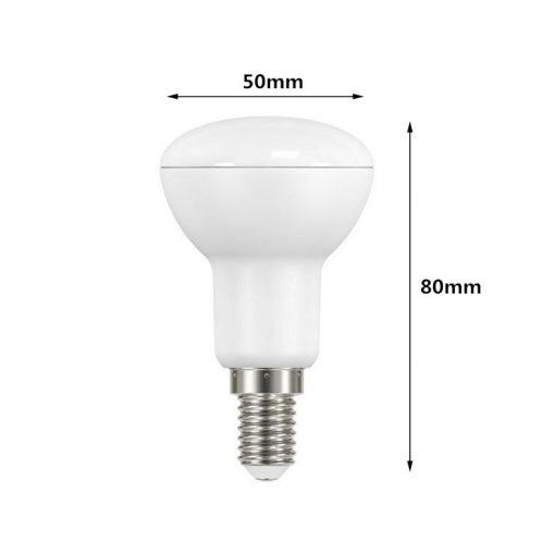 Medida de Bombilla LED R50 E14 7W