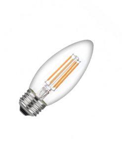 Bombilla de LED filamento vela C37 E27
