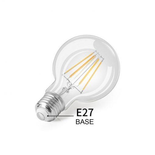 Bombilla filamento G80 E27