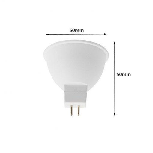 Medidas de la Bombilla dicroica LED MR16