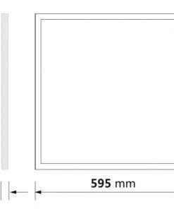 Medidas del panel LED 60x60