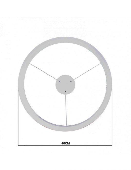 Medidas de ancho de lámpara de techo LED Luna 40W