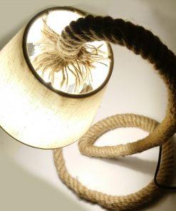 Lámpara de LED cuerda Yute vista cenital