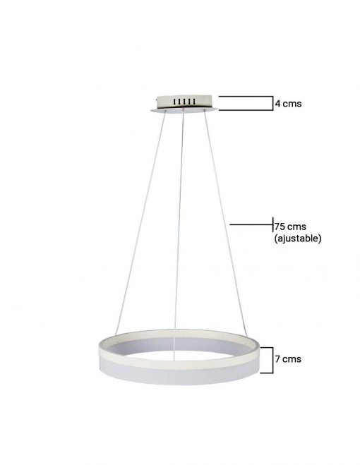 Medidas de lámpara de techo LED Luna 40W