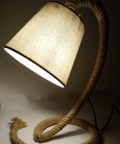 Lámpara de LED cuerda Yute encendida