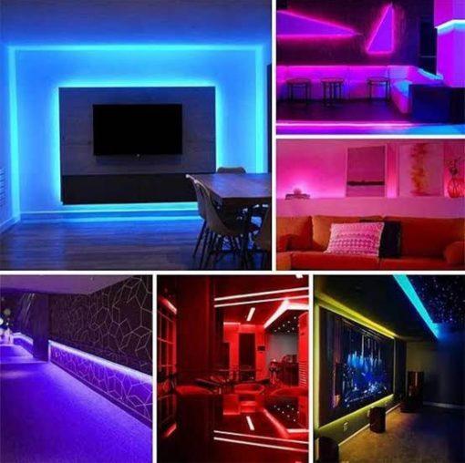 imágenes de decoración con tiras de LED