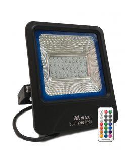 Proyector de exterior LED RGB con mando RF