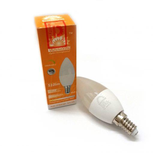 Bombilla de LED vela E14 blanco cálido