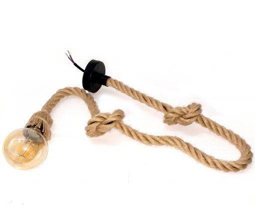 Lámpara colgante de cuerda LED yute