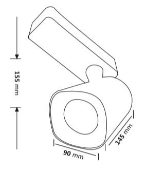 Medidas del proyector de LED novotrack