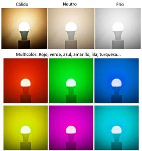 diferentes tonos de color