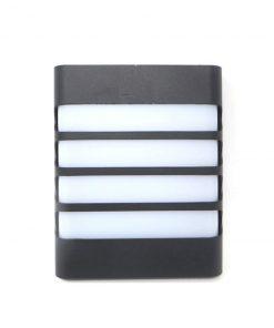 Aplique de LED exterior negro cuatro lineas