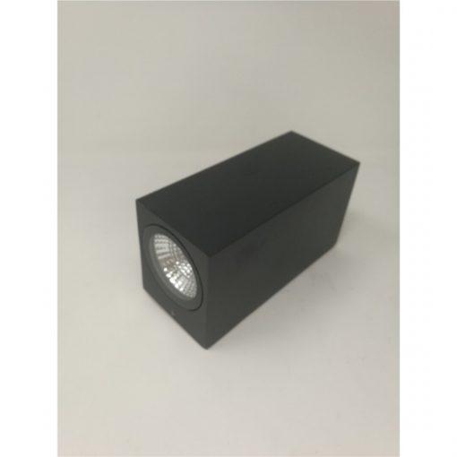 aplique LED de perfil exterior doble negro