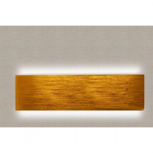 Apliques LED dorado con luz indirecta