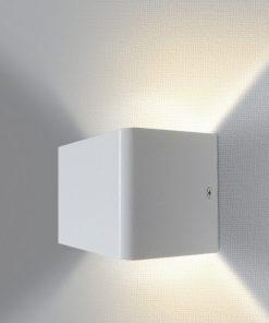 aplique LED pequeño con luz indirecta blanco