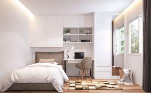 Iluminación led para dormitorios con tiras de led con escritorios