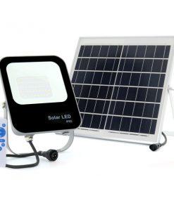 Proyector LED exterior con placa solar
