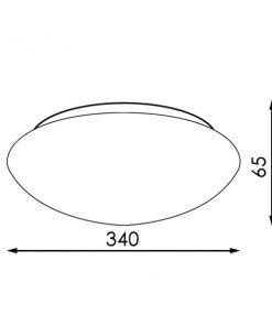 medidas del Plafón LED de superficie 24w decorativo