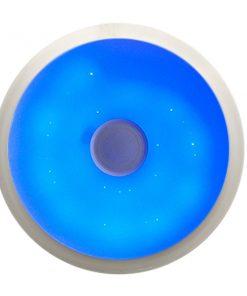 plafón con altavoces LED 36w bluetooth con mando azul