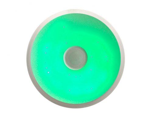 plafón con altavoces LED 36w bluetooth con mando verde